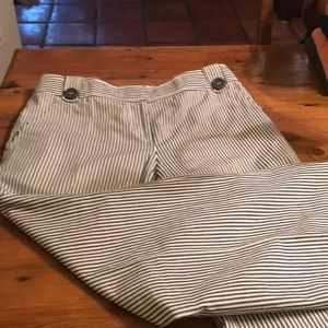 Tory Burch Navy Striped Trousers